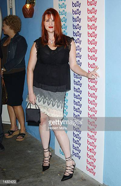 Actress Sara Rue attends a party for the winner of CBS's Big Brother 3 at Belly on September 25 2002 in Los Angeles California The party was thrown...