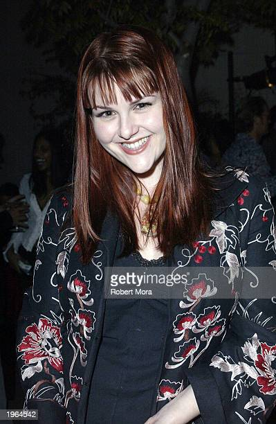 Actress Sara Rue attends Movieline's Hollywood Life Magazine kickoff party at Falcon Night Club on April 30 2003 in Hollywood California