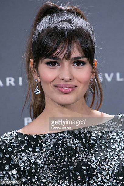 Actress Sara Salamo attends the opening of the exhibition 'Bulgari and Roma' at Italian Embassy on November 28 2016 in Madrid Spain