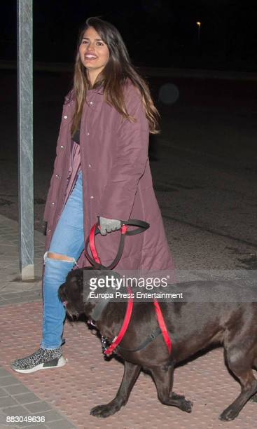 Actress Sara Salamo is seen on November 16 2017 in Madrid Spain