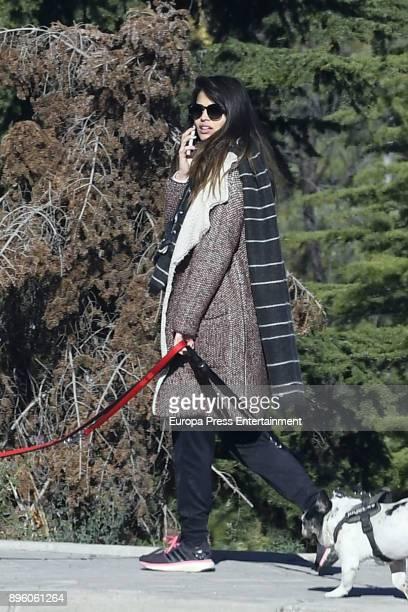 Actress Sara Salamo is seen on November 17 2017 in Madrid Spain