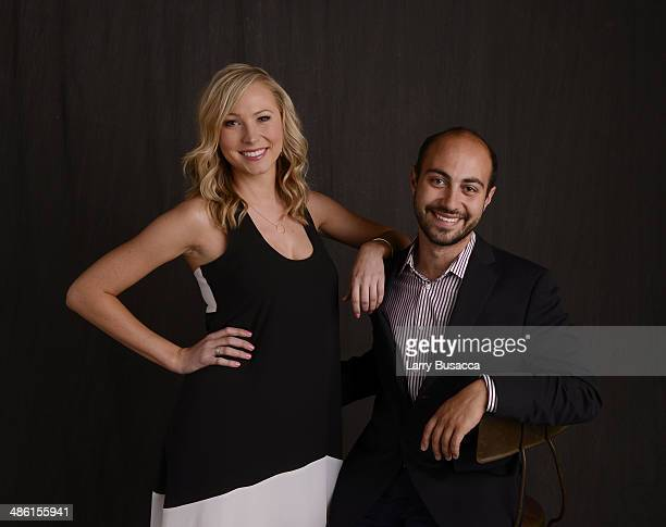 Actress Sara Sanderson and director/ screenwriter Alexander Berman from 'APP' pose at the Tribeca Film Festival Getty Images Studio on April 22 2014...