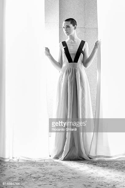 Actress Sara Serraiocco is photographed for Self Assignment on October 1 2016 in Rome, Italy.