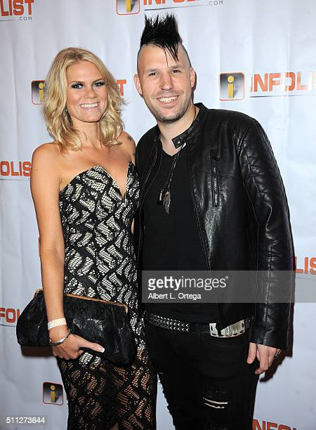 Actress Sara Terho and singer Sam Ghodsr arrive for the InfoList PreOscar Soiree And Birthday Party for Jeff Gund held at OHM Nightclub on February...
