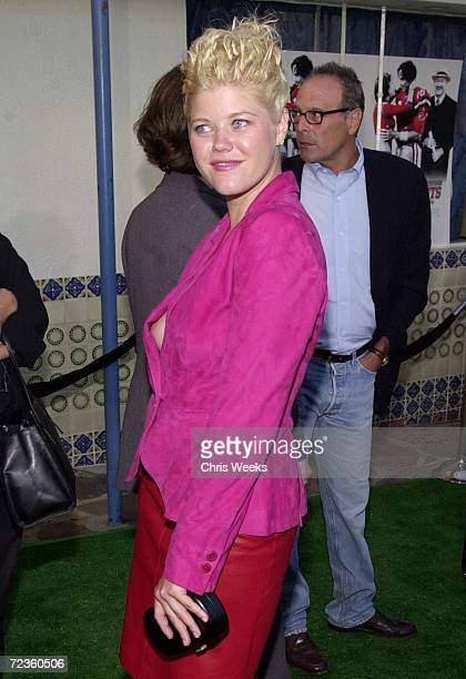 Actress Sarah Ann Morris arrives at the premiere of The Replacements August 7 2000 in Westwood CA