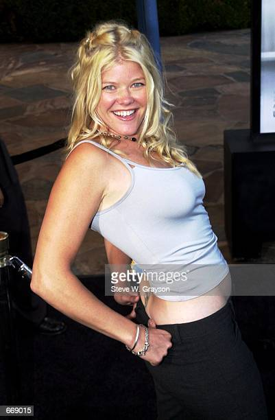 Actress Sarah Ann Morris poses for photographers at the premiere of What Lies Beneath July 18 2000 at the Mann's Village Theater in Westwood CA