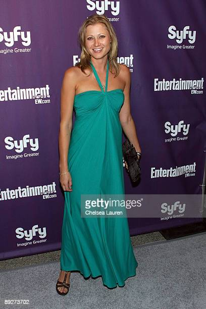 Actress Sarah Ann Schultz attends the Entertainment Weekly and Syfy party celebrating Comic-Con at Hotel Solamar on July 25, 2009 in San Diego,...