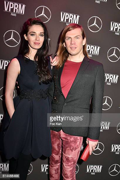 "Actress Sarah BarzykÊand designer Christophe Guillarme attend the ""Mercedes Loves Fashion Week"" Party - Paris Fashion Week Womenswear..."