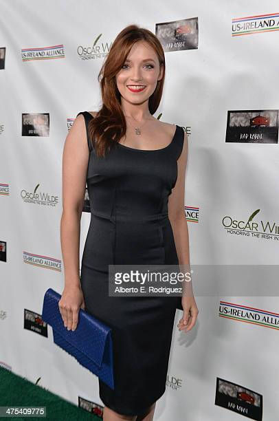 Actress Sarah Bolger attends the 9th Annual 'Oscar Wilde Honoring The Irish In Film' PreAcademy Awards event at Bad Robot on February 27 2014 in...