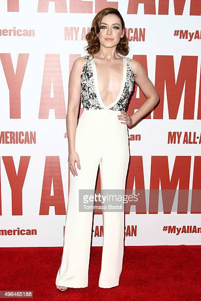 Actress Sarah Bolger attends the premiere of Clarius Entertainment's 'My All American' held at The Grove on November 9 2015 in Los Angeles California