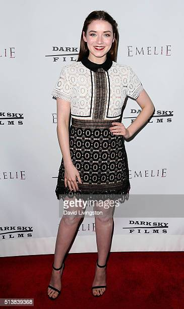 Actress Sarah Bolger attends the premiere of Dark Sky Films' 'Emelie' at Arena Cinema Hollywood on March 4 2016 in Hollywood California