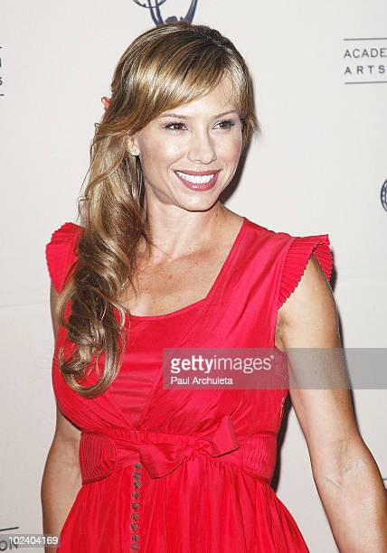 Actress Sarah Brown arrives at the 2010 Daytime Emmy Awards nominees cocktail reception at SLS Hotel at Beverly Hills on June 24 2010 in Los Angeles...