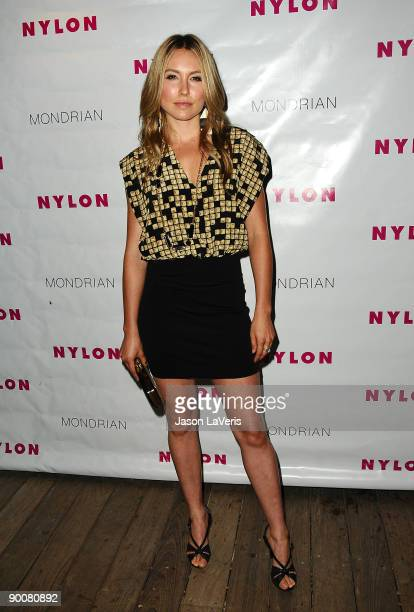 Actress Sarah Carter arrives at Nylon Magazine's TV Issue launch party at SkyBar on August 24 2009 in West Hollywood California