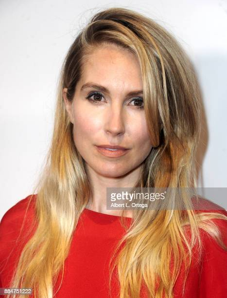 Actress Sarah Carter arrives for the TJ Scott Book Launch For 'In The Tub Volume 2' held at Cinematic Pictures Group Gallery on December 2 2017 in...