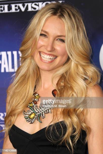 Actress Sarah Carter attends the Premiere of TNT and Dreamworks' 'Falling Skies' at the Pacific Design Center Silver Screen Theater on June 13 2011...