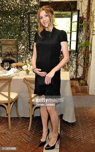 Actress Sarah Chalke attends the Vanity Fair and Stuart Weitzman Luncheon to celebrate Elizabeth Banks at AOC on February 26 2016 in Los Angeles...