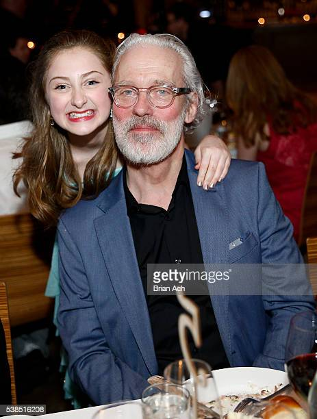 Actress Sarah Charles Lewis and actor/singer Terrance Mann are seen during the Find Your Light Gala A Celebration Of Arts Education event hosted by...