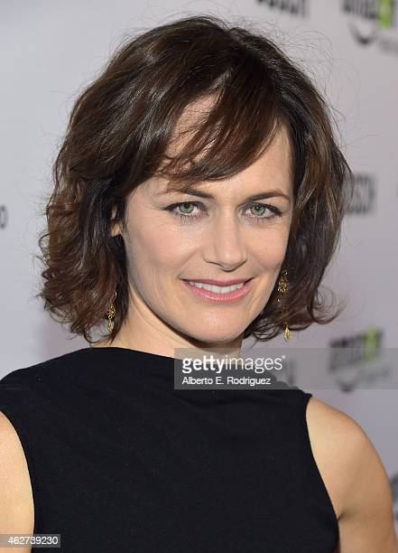 Actress Sarah Clarke arrives for the red carpet premiere screening for Amazon's first original drama series 'Bosch' at The Dome at Arclight Hollywood...