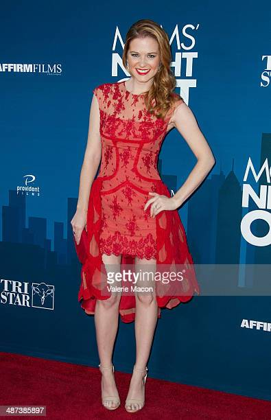 Actress Sarah Drew arrives at the Premiere Of TriStar Picture's 'Mom's Night Out' at TCL Chinese Theatre IMAX on April 29 2014 in Hollywood California
