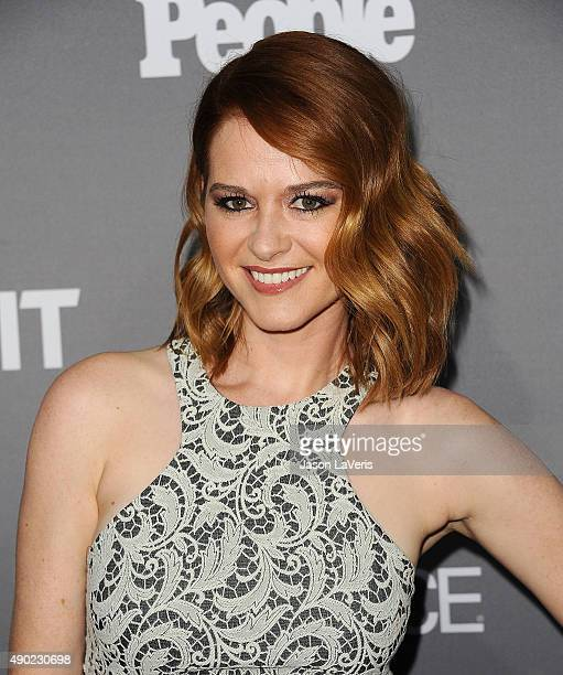 Actress Sarah Drew attends ABC's TGIT premiere event on September 26 2015 in West Hollywood California