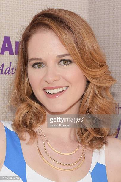 Actress Sarah Drew attends the 14th annual Chrysalis Butterfly Ball sponsored by Audi Kayne Anderson Lauren B Beauty and Z Gallerie on June 6 2015 in...