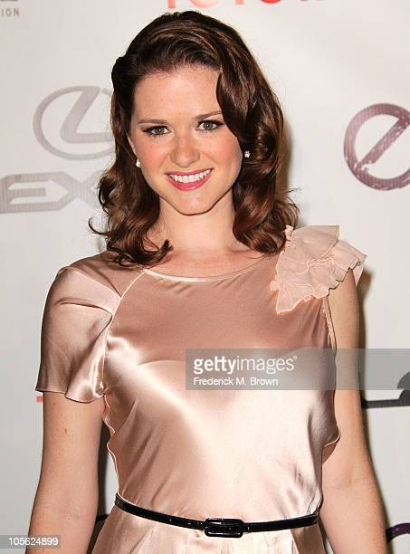 Actress Sarah Drew attends the 20th annual Enviornmental Media Association Awards at Warner Brothers Studios on October 16 2010 in Burbank California