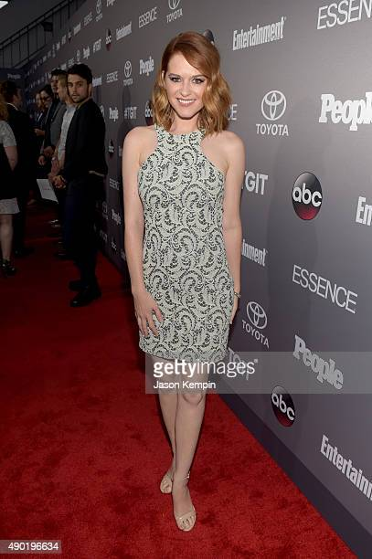 Actress Sarah Drew attends the Celebration of ABC's TGIT Lineup presented by Toyota and cohosted by ABC and Time Inc's Entertainment Weekly Essence...