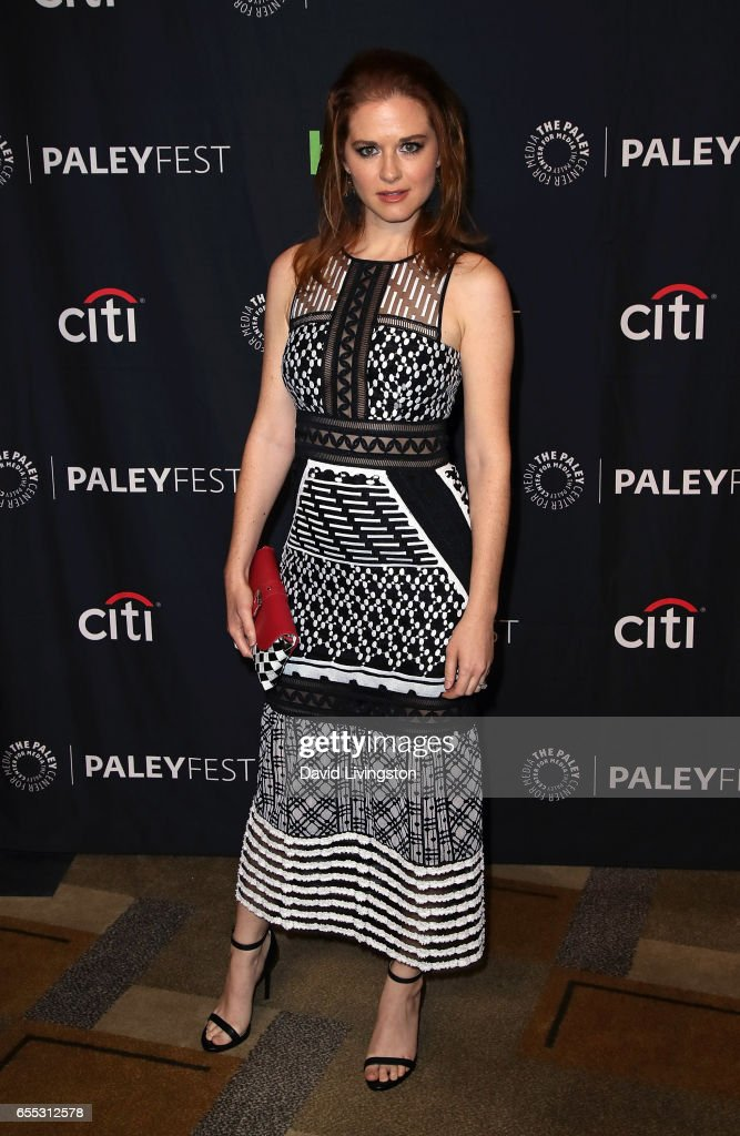 Actress Sarah Drew attends The Paley Center for Media's 34th Annual PaleyFest Los Angeles presentation of 'Grey's Anatomy' at Dolby Theatre on March 19, 2017 in Hollywood, California.