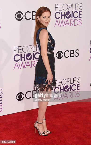 Actress Sarah Drew attends the People's Choice Awards 2017 at Microsoft Theater on January 18 2017 in Los Angeles California