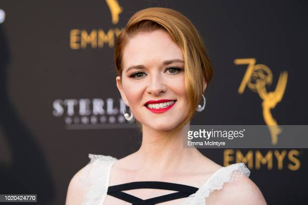 Actress Sarah Drew attends the Television Academy's Performers Peer Group Celebration at NeueHouse Hollywood on August 20 2018 in Los Angeles...