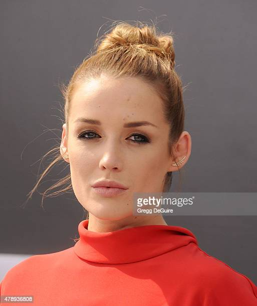 Actress Sarah Dumont arrives at the Los Angeles premiere of 'Terminator Genisys' at Dolby Theatre on June 28 2015 in Hollywood California