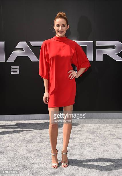 Actress Sarah Dumont arrives at the premiere of Paramount Pictures' Terminator Genisys at the Dolby Theatre on June 28 2015 in Hollywood California