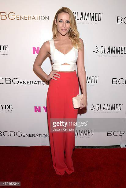 Actress Sarah Dumont attends the NYLON Young Hollywood Party presented by BCBGeneration at HYDE Sunset Kitchen Cocktails on May 7 2015 in West...