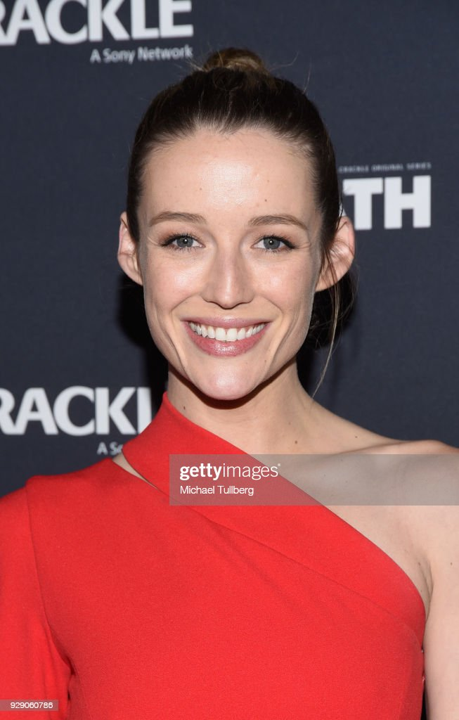 Actress Sarah Dumont attends the premiere of Crackle's 'The Oath' at Sony Pictures Studios on March 7, 2018 in Culver City, California.