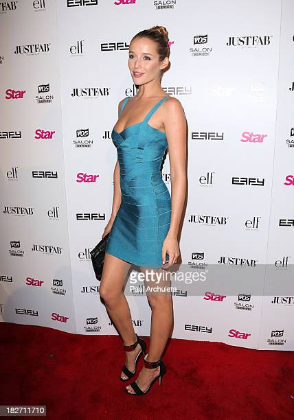 Actress Sarah Dumont attends the STAR Magazine 'Scene Stealers' party at the Tropicana Bar at The Hollywood Rooselvelt Hotel on October 1 2013 in...