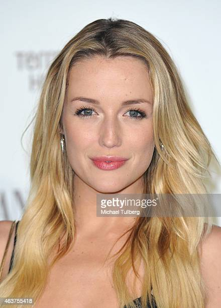 Actress Sarah Dumont attends the Vanity Fair And Fiat Toast To Young Hollywood in support of the Terrence Higgins Trust at No Vacancy on February 17...