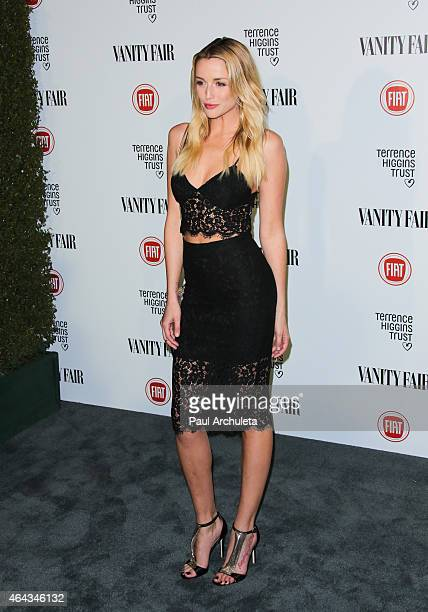 Actress Sarah Dumont attends the Vanity Fair and Fiat toast to 'Young Hollywood' in support of 'Terrence Higgins Trust' at No Vacancy on February 17...