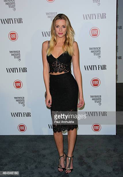 Actress Sarah Dumont attends the Vanity Fair and Fiat toast to Young Hollywood in support of Terrence Higgins Trust at No Vacancy on February 17 2015...