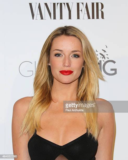 Actress Sarah Dumont attends the Vanity Fair and L'Oreal Paris Girl Rising benefit at 1 OAK on February 20 2015 in West Hollywood California