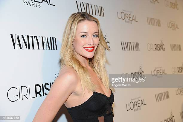 Actress Sarah Dumont attends VANITY FAIR and L'Oreal Paris DJ Night hosted by Freida Pinto to benefit Girl Rising at 1OAK on February 20 2015 in Los...
