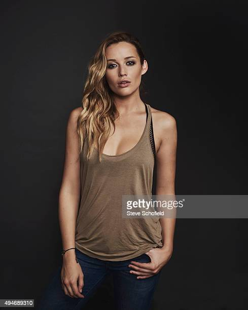 Actress Sarah Dumont of 'Scouts Guide to the Zombie Apocalypse' for Wonderwall on September 14 2015 in Los Angeles California PUBLISHED IMAGE