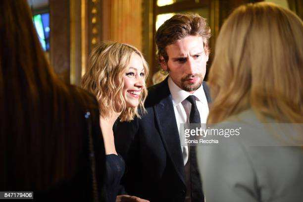 Actress Sarah Gadon and actor Edward Holcroft attend The World Premiere of the Limited Series 'Alias Grace' starring Sarah Gadon from Sarah Polley...