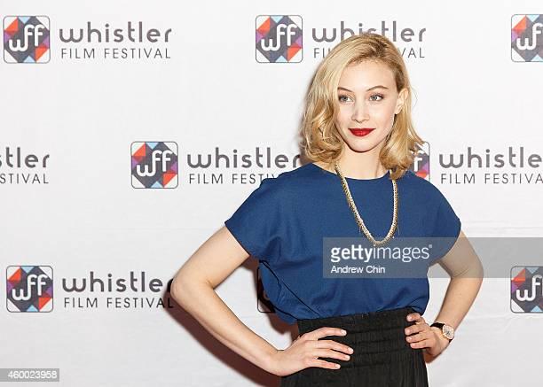 Actress Sarah Gadon arrives at 'Spotlight On Sarah Gadon' at Whistler Film Festival on December 5 2014 in Whistler Canada