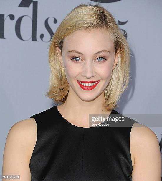 Actress Sarah Gadon arrives at the InStyle Awards at Getty Center on October 26 2015 in Los Angeles California