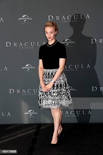 Actress Sarah Gadon attends a 'Dracula Untold' photocall at Ritz Carlton on September 15 2014 in Berlin Germany