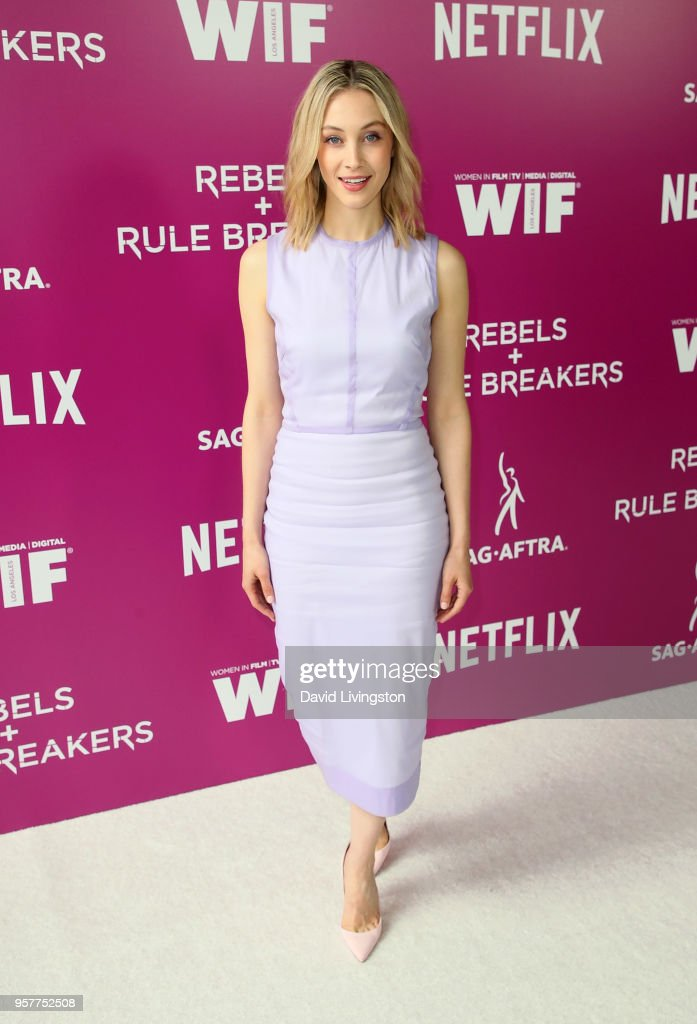 Actress Sarah Gadon attends Netflix - Rebels and Rules Breakers For Your Consideration event at Netflix FYSee Space on May 12, 2018 in Los Angeles, California.