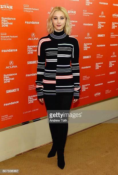 Actress Sarah Gadon attends the '112263' Sundance premiere on January 28 2016 in Park City Utah