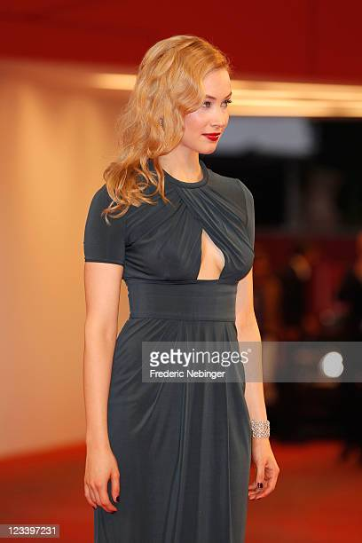 Actress Sarah Gadon attends the A Dangerous Method premiere during the 68th Venice Film Festivalat Palazzo del Cinema on September 2 2011 in Venice...