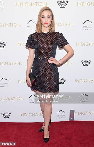 Actress Sarah Gadon attends the 'Indignation' New York premiere at the Museum of Modern Art on July 25 2016 in New York City