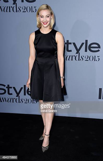 Actress Sarah Gadon attends the InStyle Awards at Getty Center on October 26 2015 in Los Angeles California